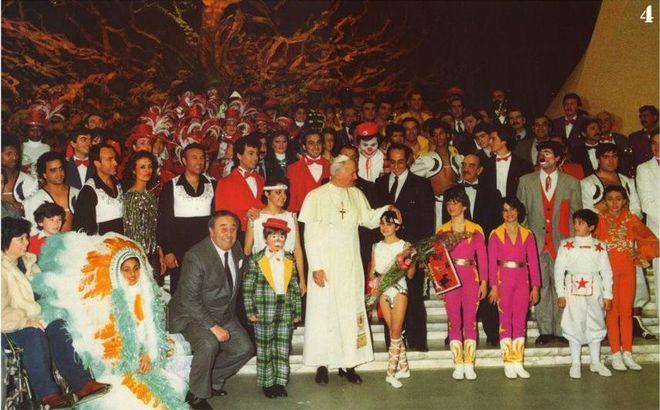 Cyrkowcy z Włoch u Jana Pawła II
