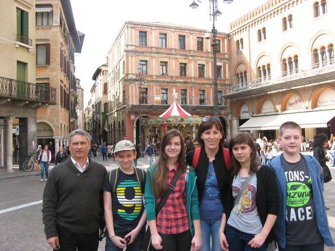 Uczestnicy projektu zwiedzili m. in. Treviso...