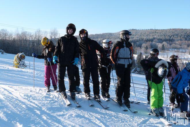Uczniowie swój udział w projekcie zakończyli wyjazdem w góry...