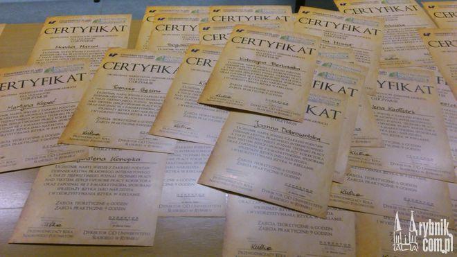 Certyfikaty potwierdzają nabyte umiejętności podczas warsztatów