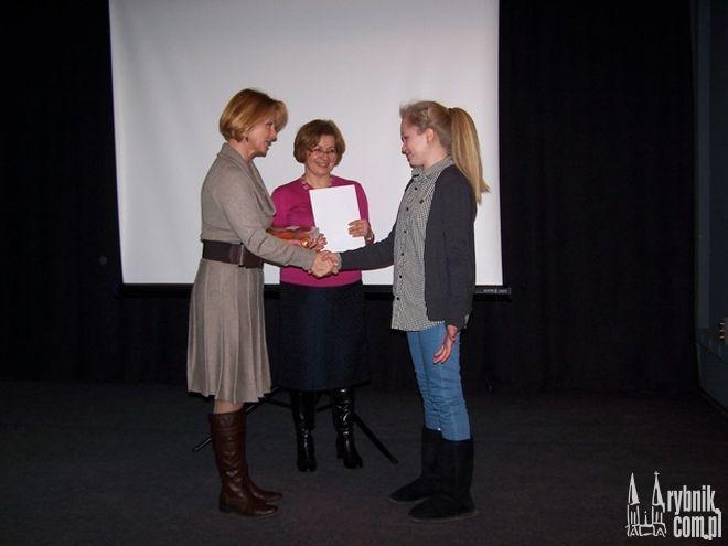 Justyna Ferska z Płońska jako jedyna z nagrodzonych osobiście odebrała swoją nagrodę