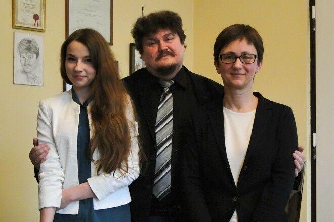 Julia Malinowska, dyrektor I LO – Tadeusz Chrószcz i Grażyna Kostyrka-Kuśka