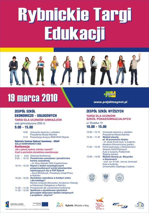 Plakat Rybnickich Targów Edukacyjnych