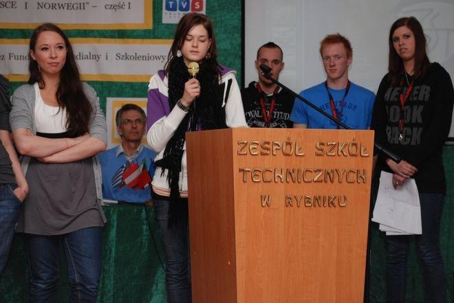 Ingrid podczas konferencji w ZST
