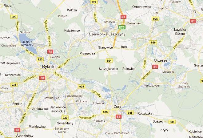 Na mapie Google autostradą można dojechać jedynie do Bełku