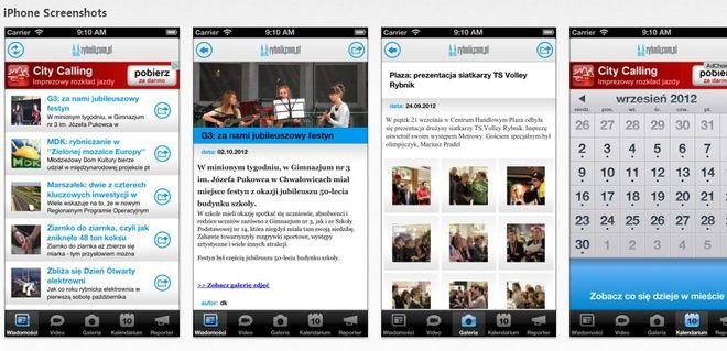 Aplikacja Rybnik.com.pl na iPhone'a to dostęp do newsów, galerii, kalendarza imprez...