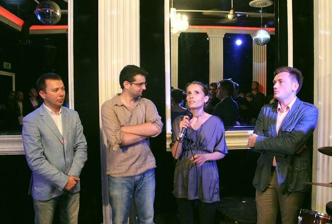 Inicjatorzy projektu Ślązak - Tomasz Pruszczyński, Adrian Grad i Sabina Dyla oraz występujący w teledysku Adam Giza.