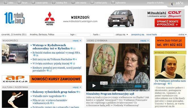 Rybnik.com.pl obchodzi w tym roku 10 lat