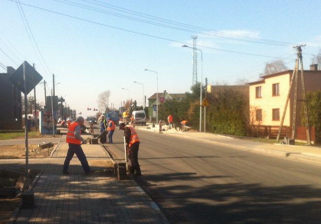 Od kilku dni robotnicy są już widoczni na ul. Wodzisławskiej