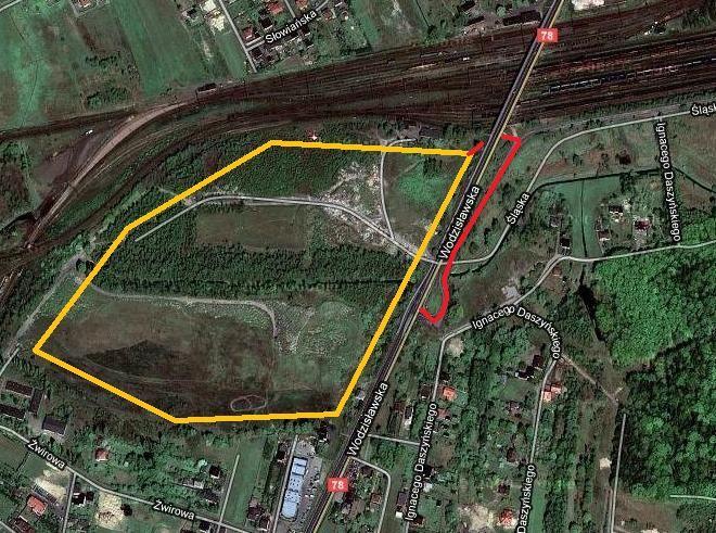 Jeden z wjazdów do hipermarketu prowadził będzie ulicą Śląską, a następnie pod wiaduktem.