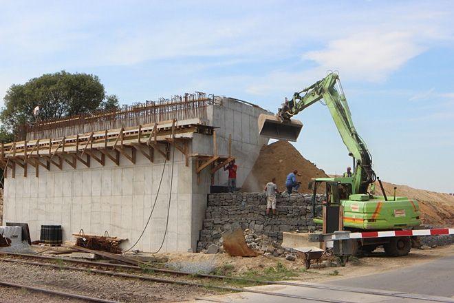 Zdjęcie z budowy zrobione z końcem sierpnia