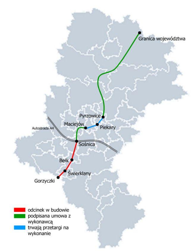Stan zaawansowania prac nad budową autostrady A1