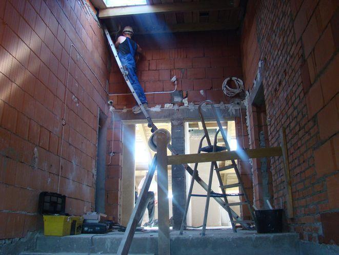Obecnie w budynku trwają prace budowlane