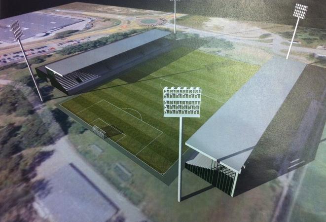 Wizualizacja nowego stadionu, który mógłby powstać za kąpieliskiem Ruda