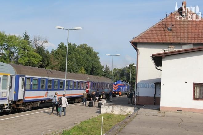 Dworzec w Łebie. W lecie dojedziemy tu bez przesiadki z Rybnika
