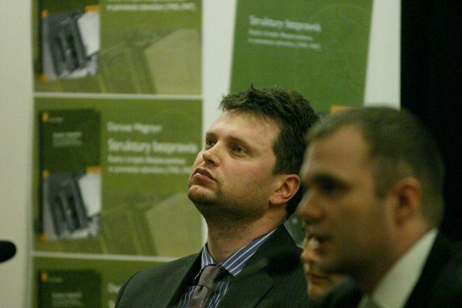 Autor książki ''Struktury bezprawia...'' Dariusz Węgrzyn
