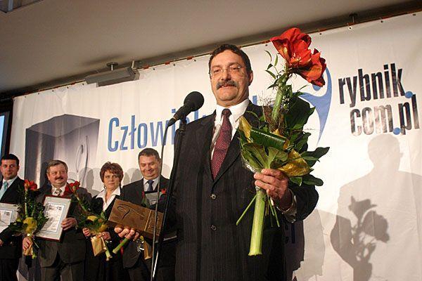 Jerzy Chachuła (tutaj podczas wręczania statuetek Człowieka Roku Rybnik.com.pl) zapowiada, że zwolnień w elektrowni nie będzie.