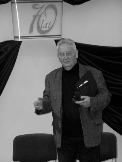 Henryk Mikołaj Górecki podczas jubileuszu 70-lecia rybnickiej szkoły muzycznej.