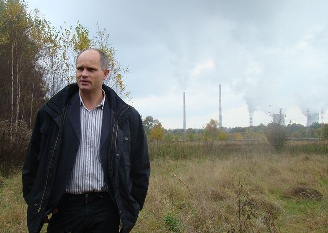 Krzysztof Gromysz boi się, że na tej części działki będzie mógł wybudować jedynie hipermarket.