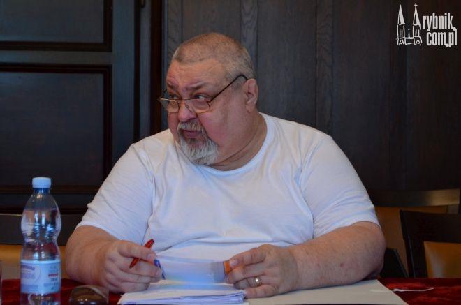 Piotr Kufka w trakcie posiedzenia Komisji Rewizyjnej