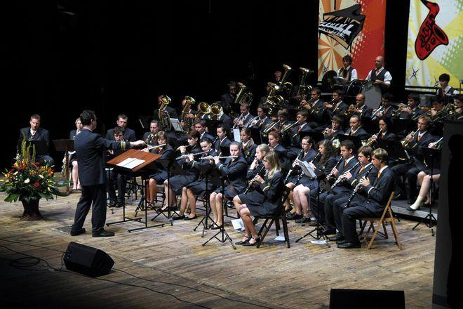 Zwycięska orkiestra z czeskiego Jesenika, dyrygenci Tomas Uhlir, Milan Domes