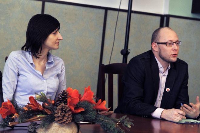 Sonia Leniarczyk i Piotr Masłowski z CRIS-u
