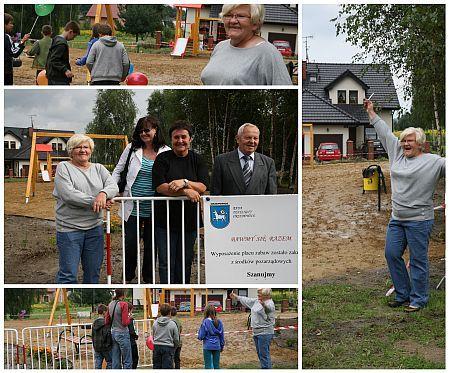 W ramach projektu ''Dwa bieguny'' w Orzepowicach powstał plac zabaw...