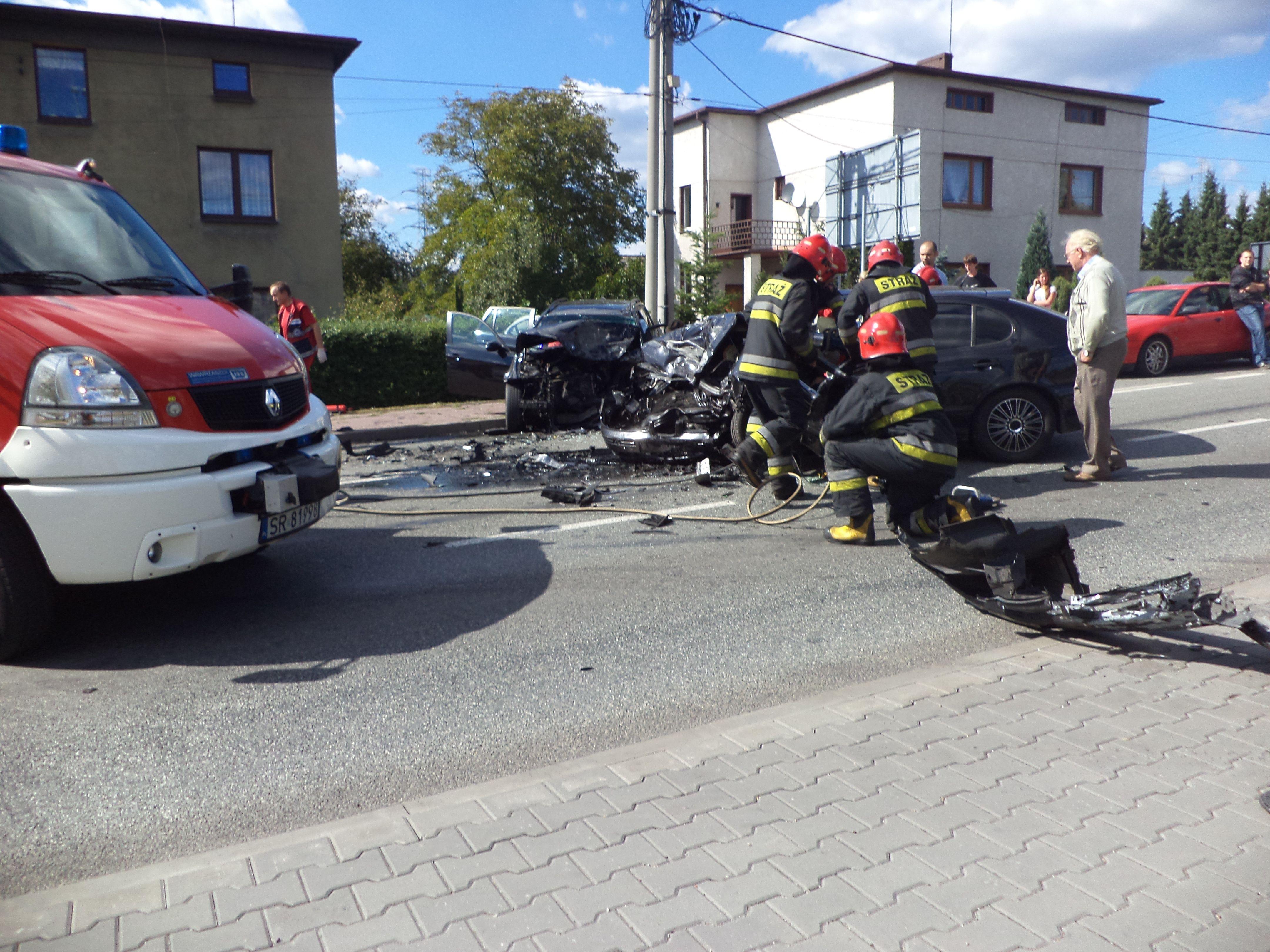 Zdjęcie z wypadku przy ul. Gliwickiej nadesłał nam jeden z naszych czytelników
