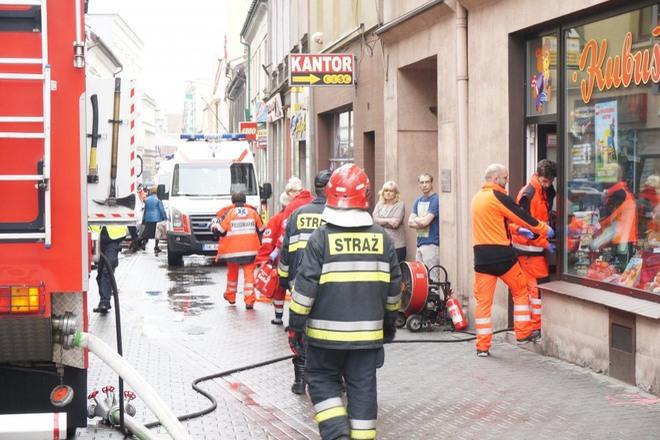 Do samopodpalenia doszło w jednym ze sklepów z zabawkami przy ul. Kościelnej