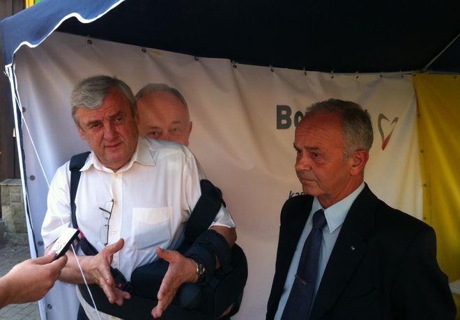 Bogusław Biegesz przyznaje, że kluczowe jest dla niego poparcie Adama Fudalego...