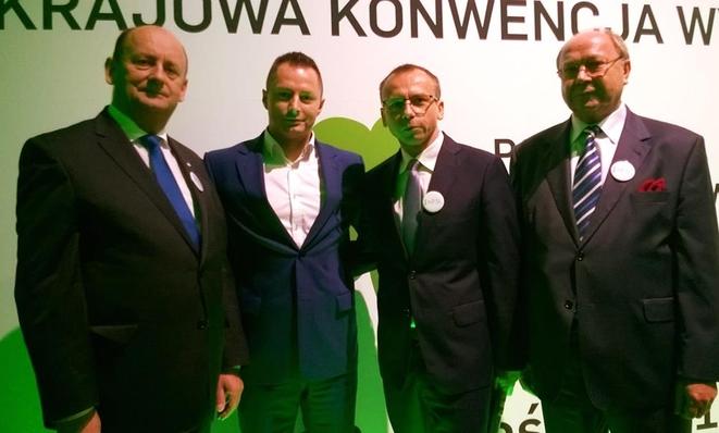 Bronisław Karasek, Adam Smyczek, Marek Wystyrk i Ryszard Leszczyński