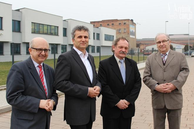 Od lewej: Bogdan Grajner, Tadeusz Gruszka, Piotr Zmuda i Ginter Zaik