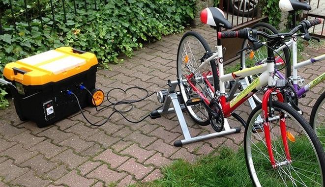 Rower ze stacją energetyczną marki Energorower