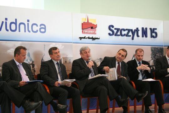 Prezydent Rybnika podczas szczytu N15