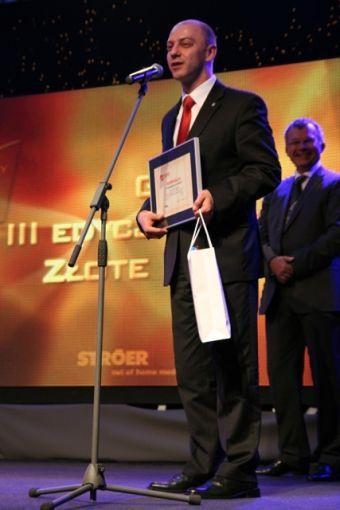 Krzysztof Jaroch z nagrodą dla Rybnika