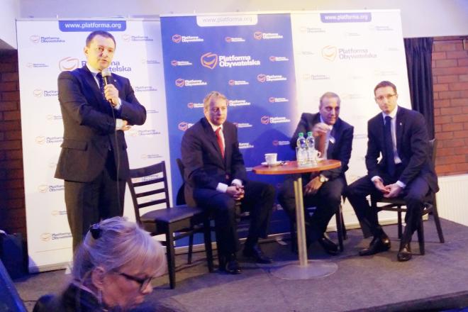 Grzegorz Schetyna (drugi od prawej) może liczyć na wsparcie rybnickiej platformy