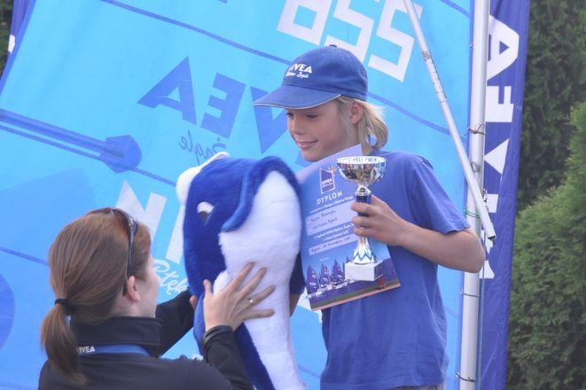 Kacper Błaszczyk - zwycięzca w kategorii chłopców do lat 11 oraz w wyścigu o Błękitną Wstęgę.