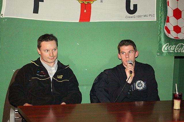 Przed wyjazdem do Austrii żużlowcy Mariusz Węgrzyk i Ronnie Jamroży spotkali się z kibicami w Amanis Sport Pub
