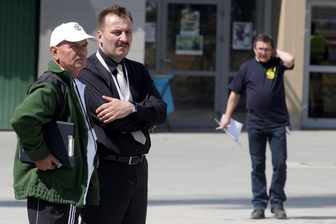 Trener Jan Grabowski i prezes Krzysztof Mrozek tworzą zgrany duet