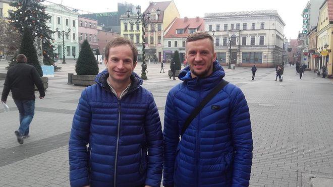 Rune Holta i Grigorij Łaguta na rybnickim rynku