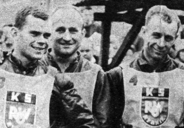 Od lewej: Antoni Woryna, Stanisław Tkocz i Joachim Maj