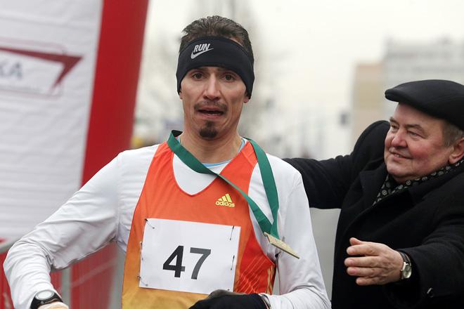 Zwycięzca biegu - Ales Miko