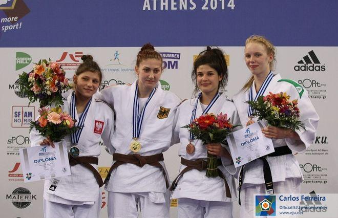 Julia Kowalczyk na podium mistrzostw Europy w Atenach