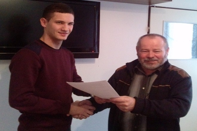 Mateusz Sitnik  już po podpisaniu kontraktu