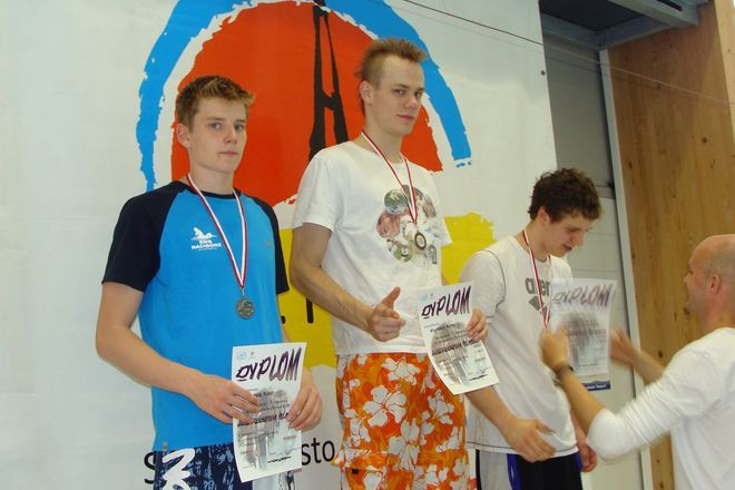 Kamil Migatulski na najwyższym stopniu podium