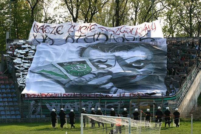 Kibice ROW-u przygotowali specjalną oprawę na mecz w Opolu