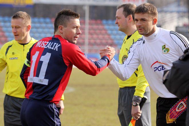 Mariusz Muszalik przed meczem Piast Gliwice - GKS Bełchatów w Wodzisławiu w 2010 roku