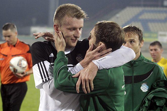 Po niedzielnym meczu Roland Buchała i Marek Gładkowski mieli powody do radości