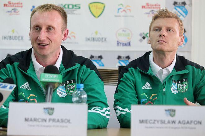 Marcin Prasoł i jego asystent Mieczysław Agafon