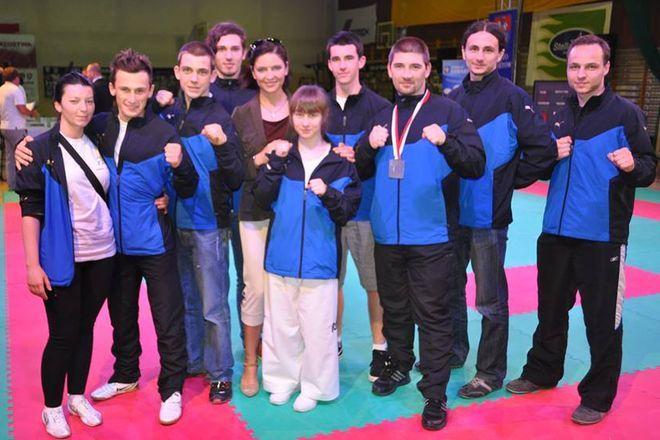 Rybniccy zawodnicy z Minister Sportu – Joanną Muchą